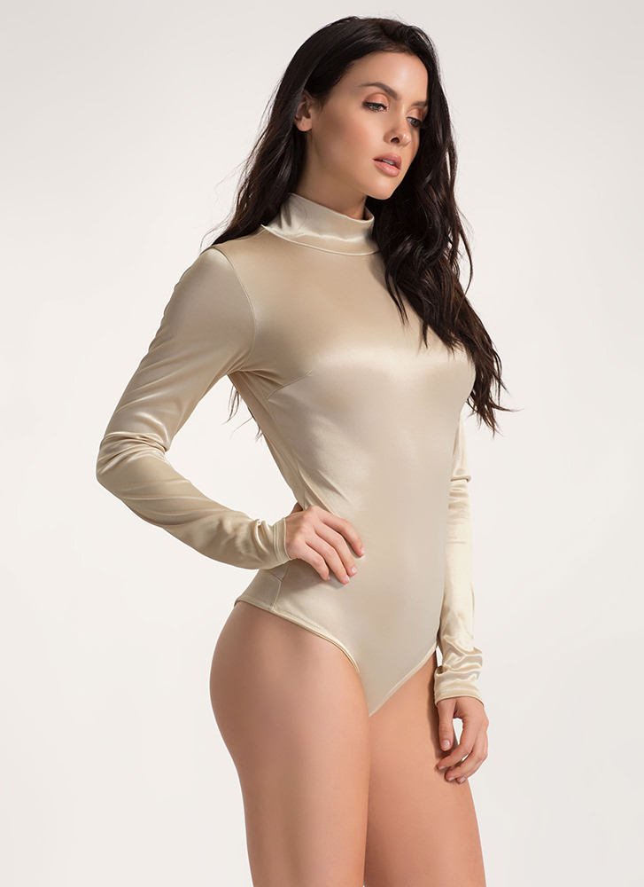 Silky Way Open Back Thong Bodysuit