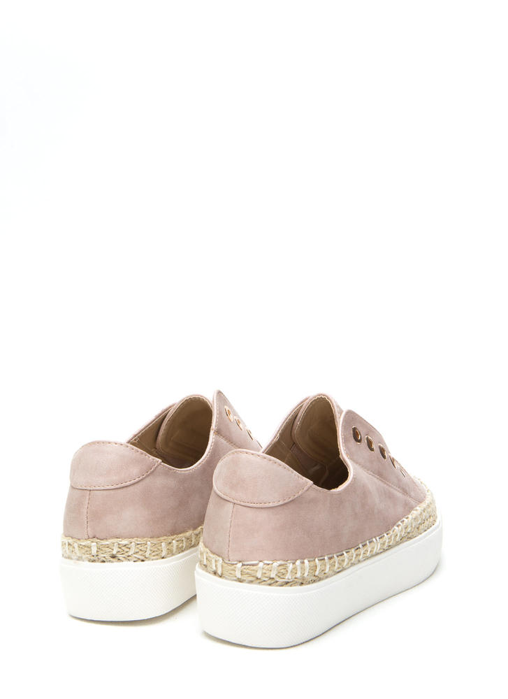 Roped In Faux Leather Slip-On Sneakers MAUVE