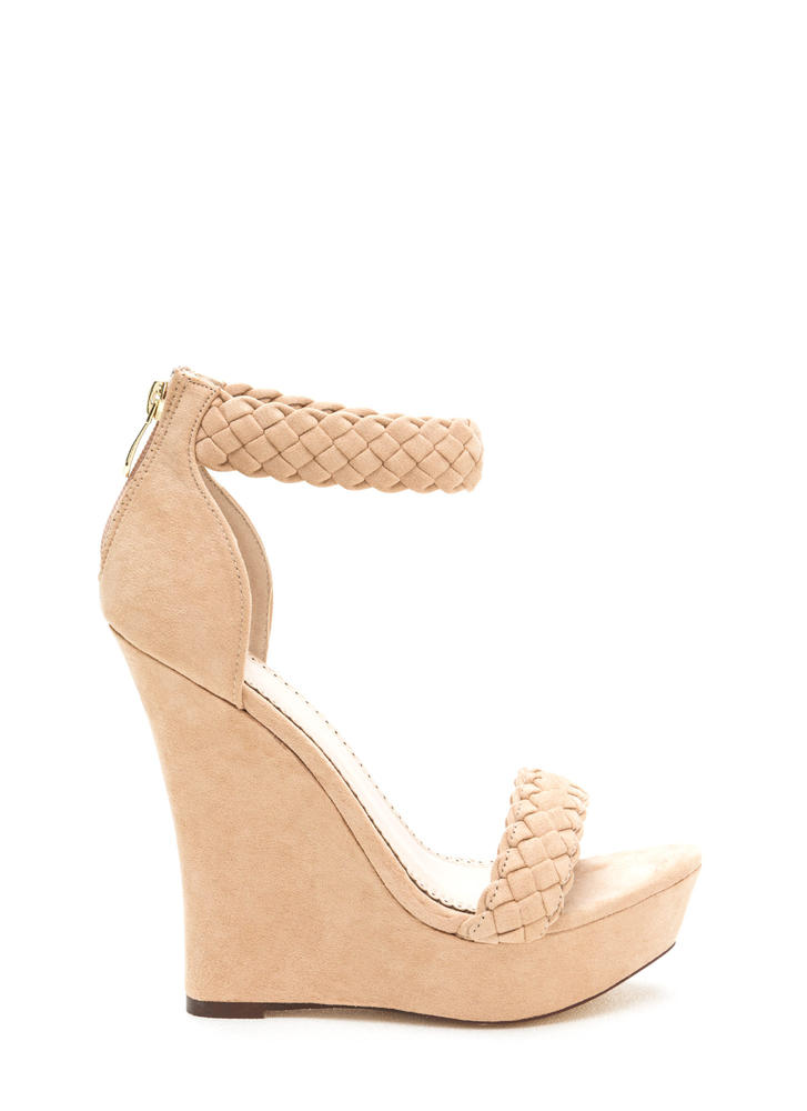 Simple Pleasures Braided Platform Wedges