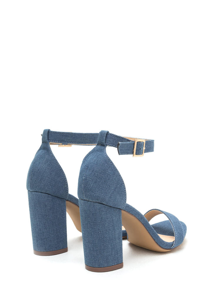 Killer Look Chunky Denim Heels DENIM