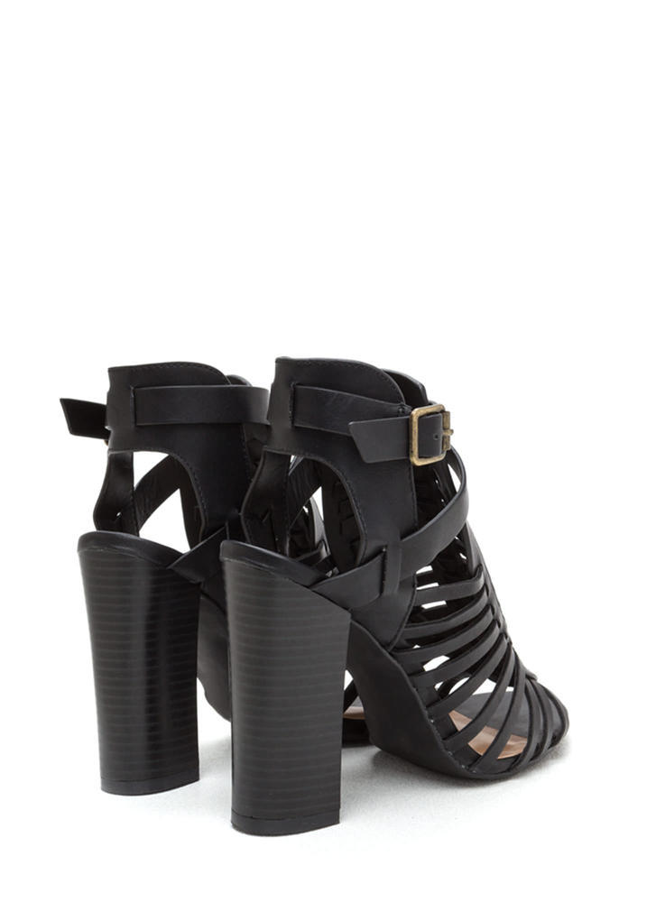 Be-Weave In Yourself Chunky Heels BLACK