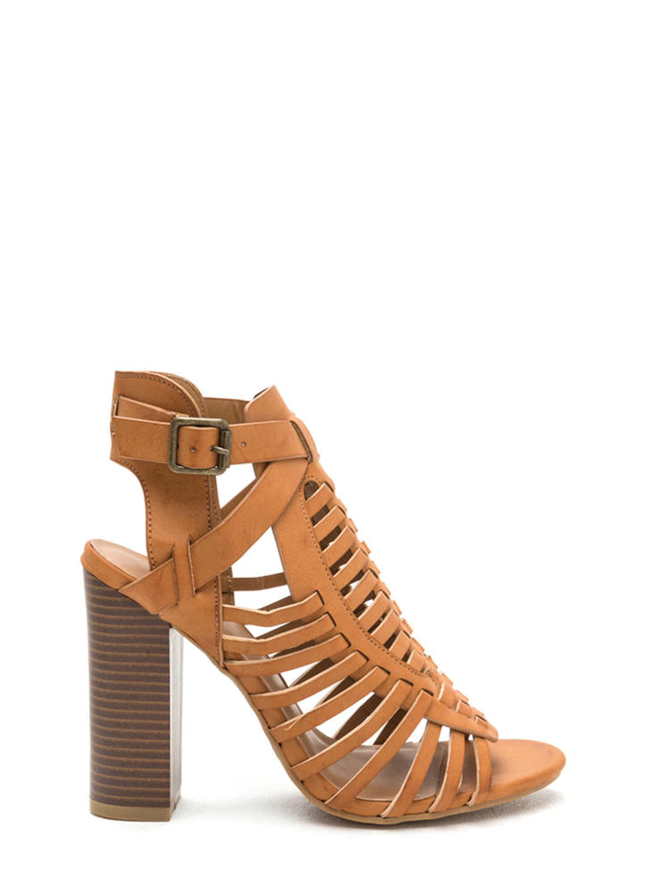 Be-Weave In Yourself Chunky Heels TAN
