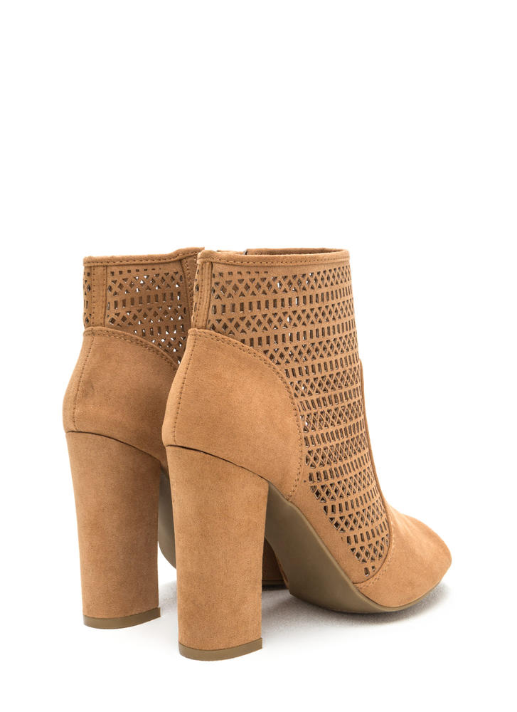 Shape Shifter Cut-Out Chunky Booties TAN