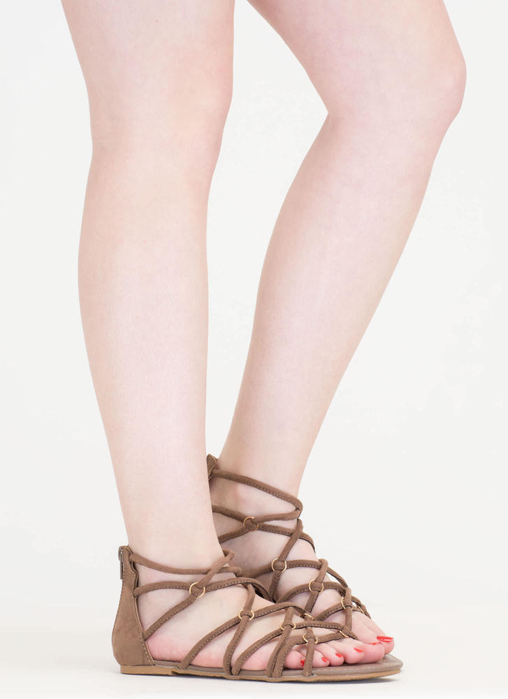 Ring In The New Knotted Caged Sandals