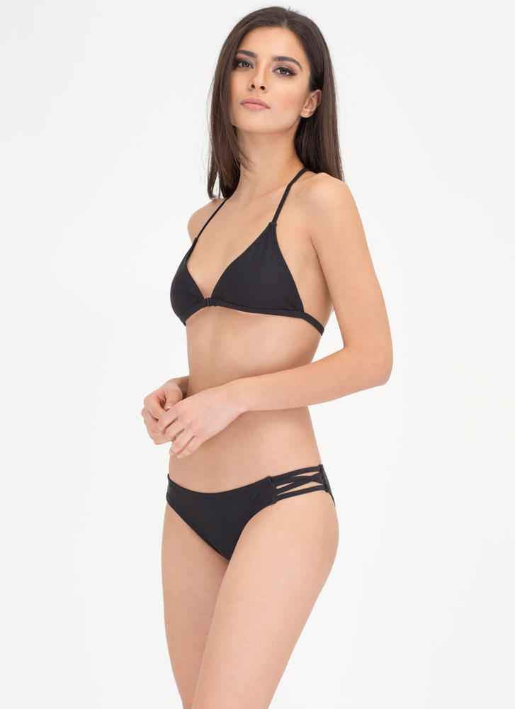 Fit To A T-Strap Caged Bikini Set