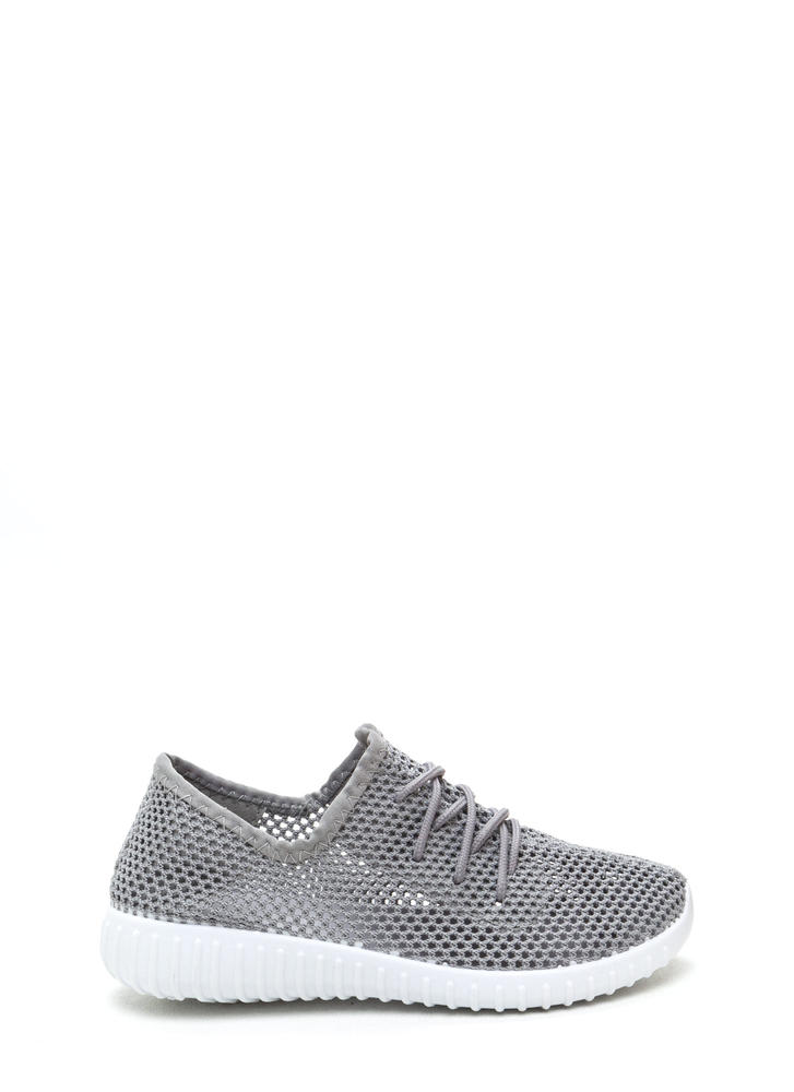 Net Work Cinched Sports Mesh Sneakers Image