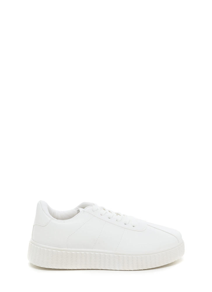 So Slick Faux Leather Creeper Sneakers