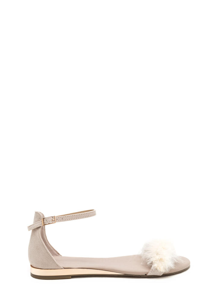 Feathered Friends Faux Suede Sandals