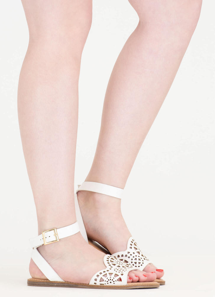 In Motion Cut-Out Strappy Sandals