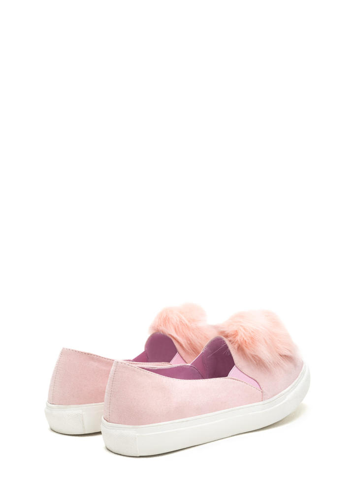 Fur Good Pom-Pom Slip-On Sneakers BLUSH