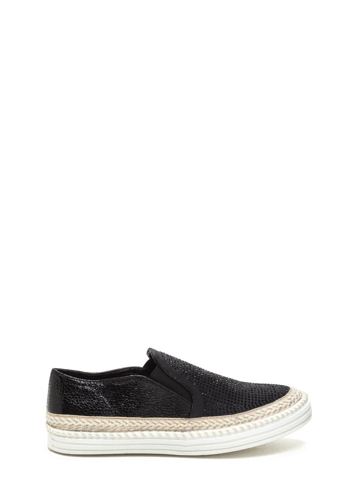 I Sparkle Jute Trim Slip-On Sneakers