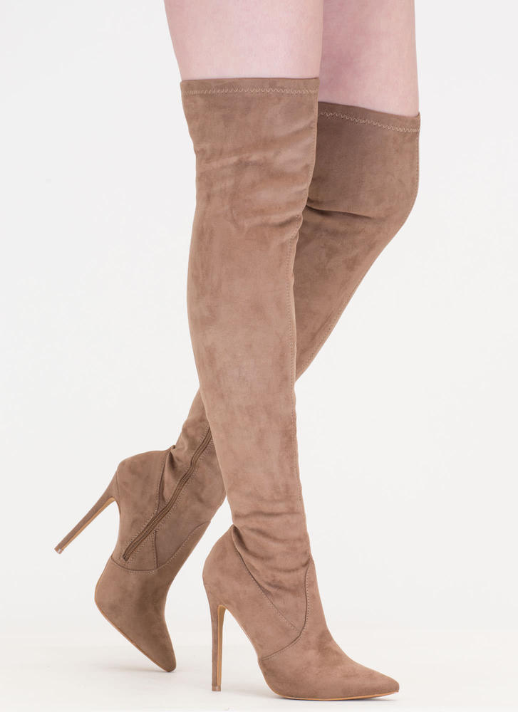 Thigh Zone Pointy Over-The-Knee Boots