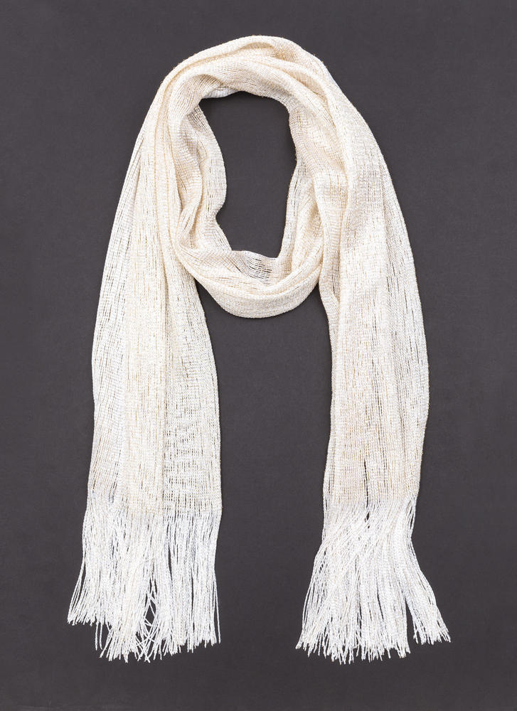 Happy Gleam Fringed Scarf LTGOLD
