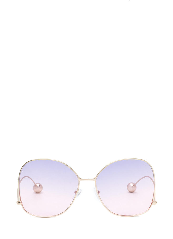 Retro Fab Oversized Two-Tone Sunglasses