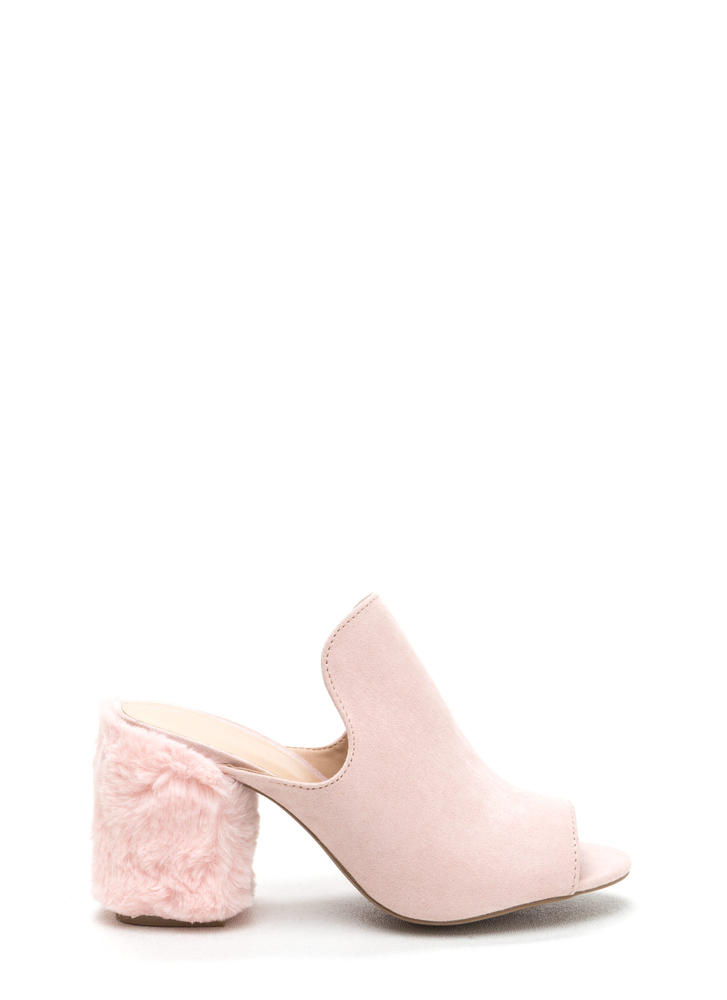 Fur Your Own Good Chunky Mules NUDE