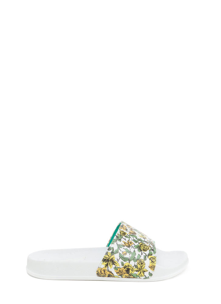All Fleur It Slide Sandals GREEN (Final Sale)