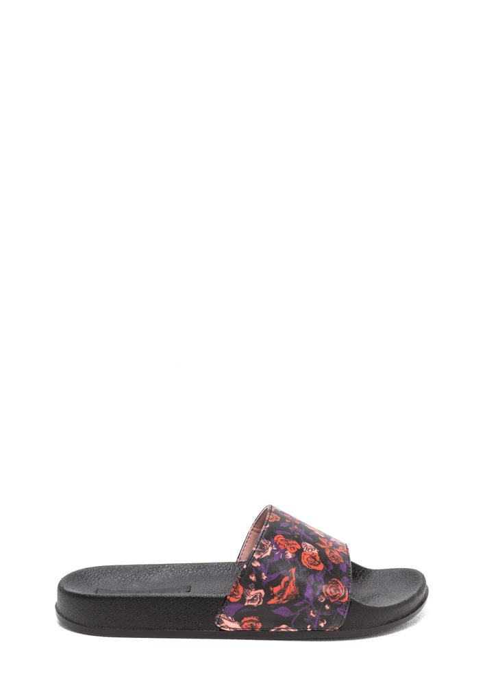 All Fleur It Slide Sandals