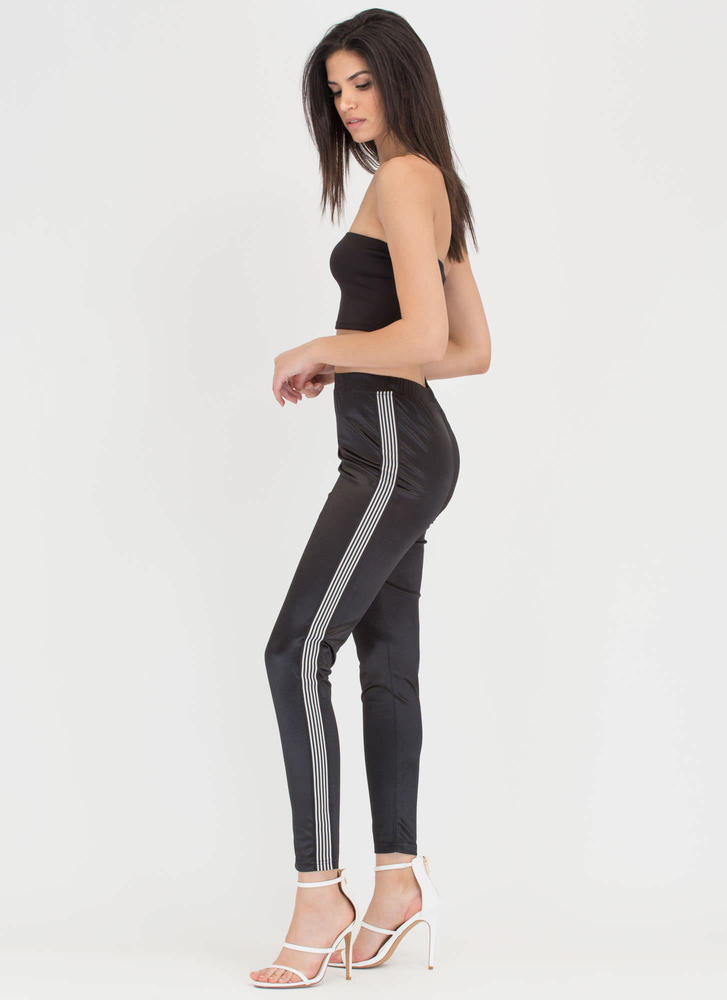 Stripe While The Iron Is Hot Track Pants BLACK (Final Sale)