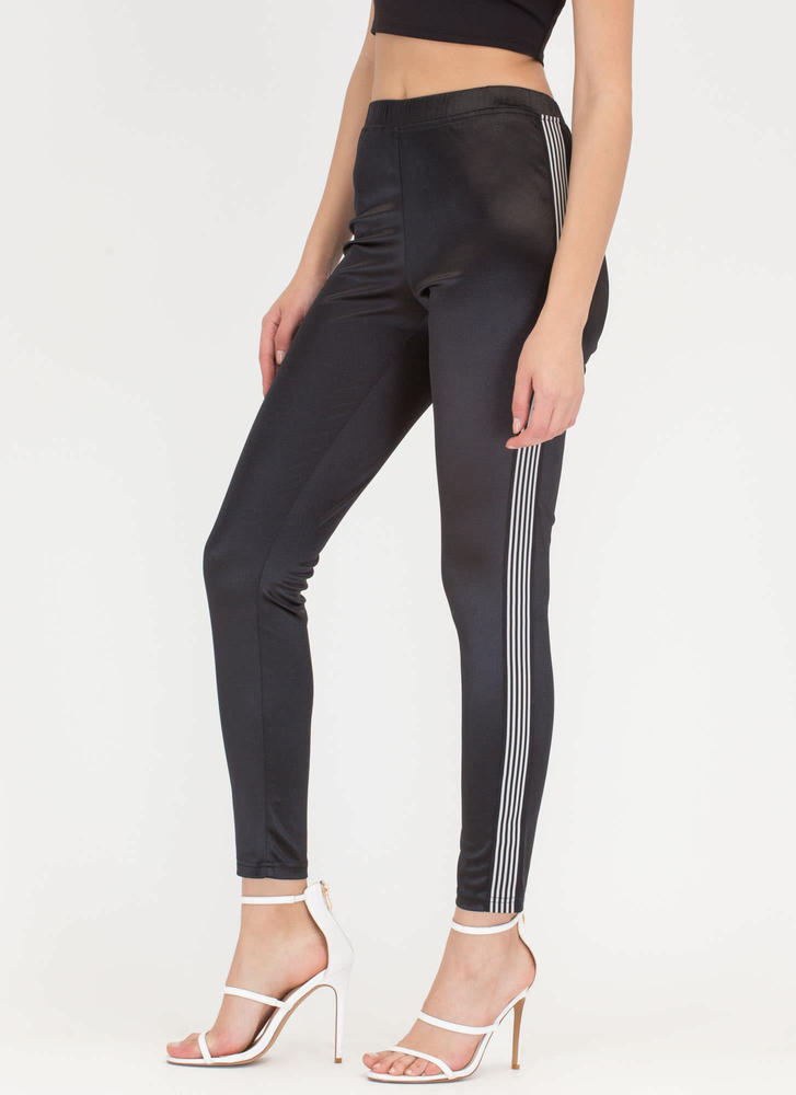 Stripe While The Iron Is Hot Track Pants BLACK
