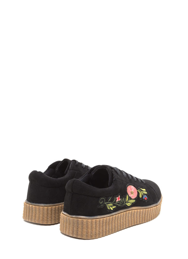 Garden Walk Faux Suede Sneakers BLACK