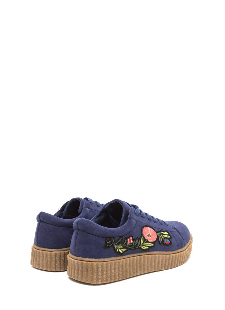 Garden Walk Faux Suede Sneakers NAVY