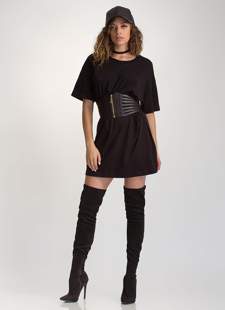 What's The Big Idea Oversized Tee BLACK