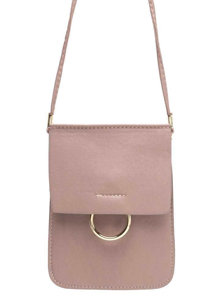 Ring Together Faux Leather Clutch