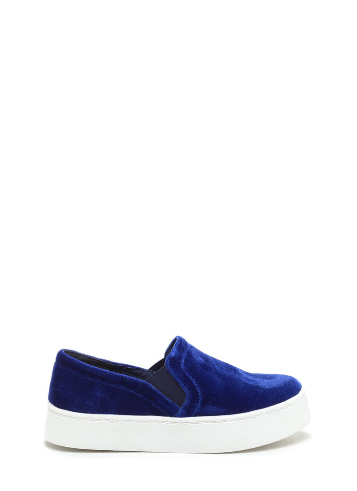 Push Plush Velvet Slip-On Sneakers