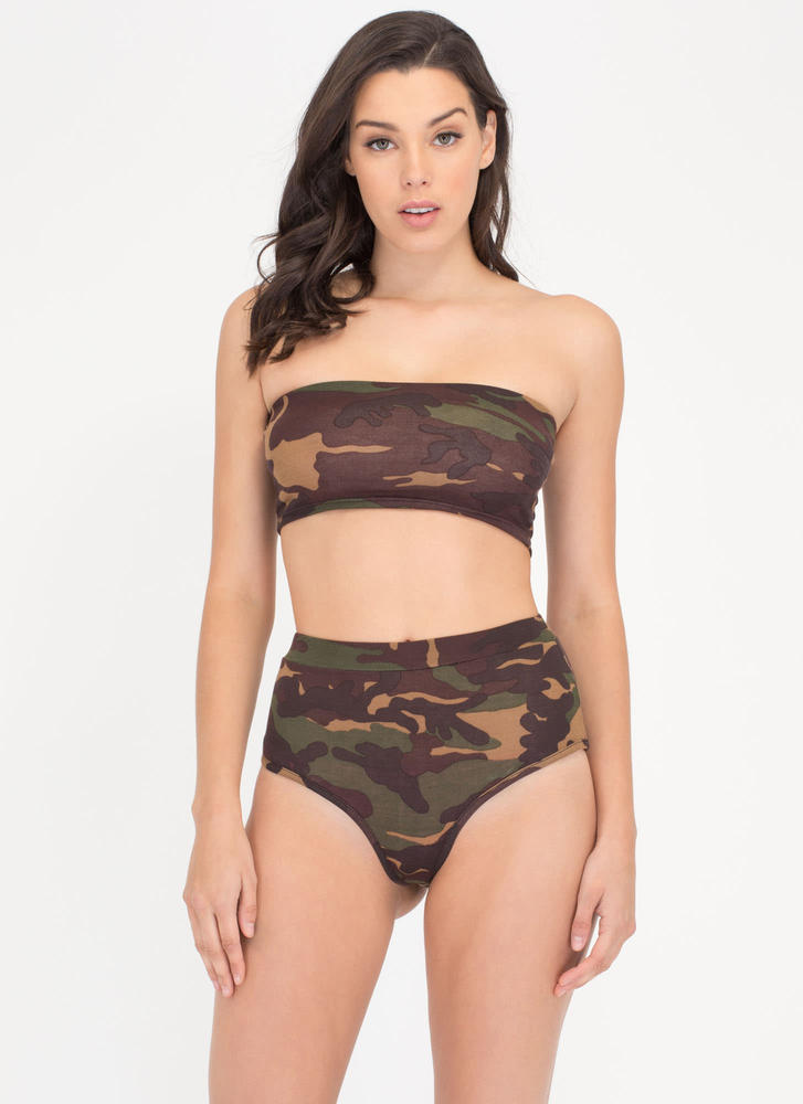 Fashion Tactic Camo Top 'N Briefs Set