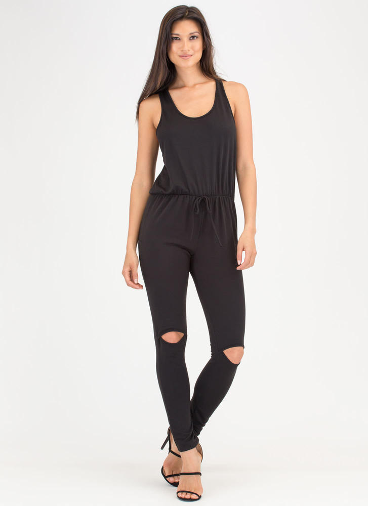 All Day Pick Cut-Out Racerback Jumpsuit
