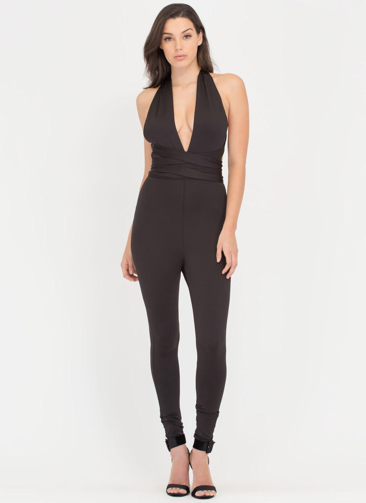 Wise Choice Convertible Halter Jumpsuit