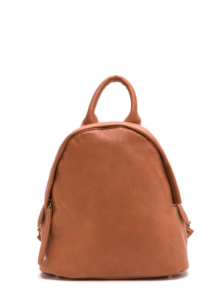 Off The Chain Faux Leather Mini Backpack