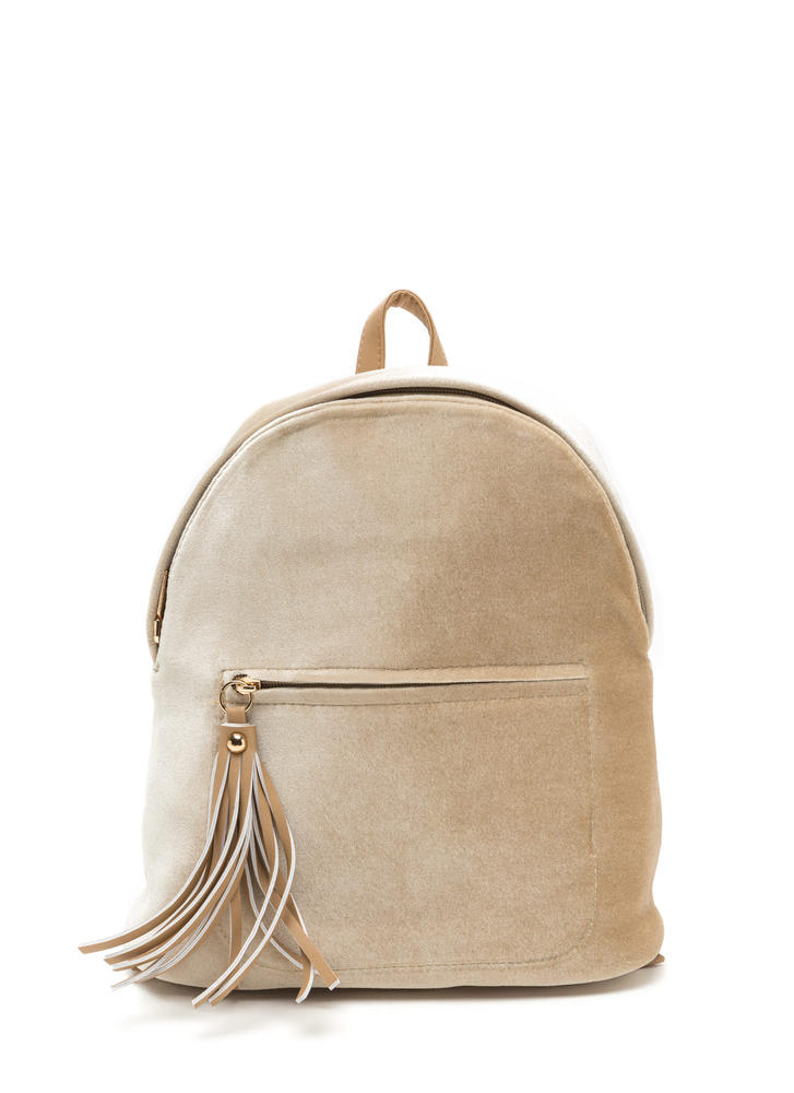 Small Wonder Mini Velvet Backpack