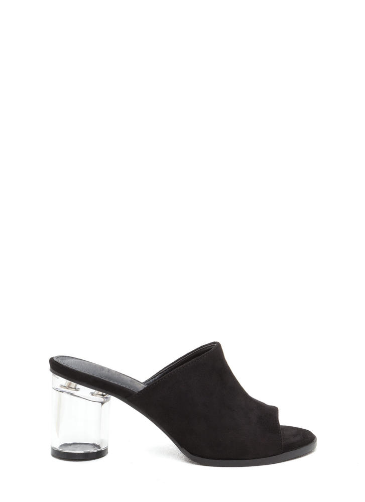 Floating On Cloud 9 Chunky Mule Heels BLACK