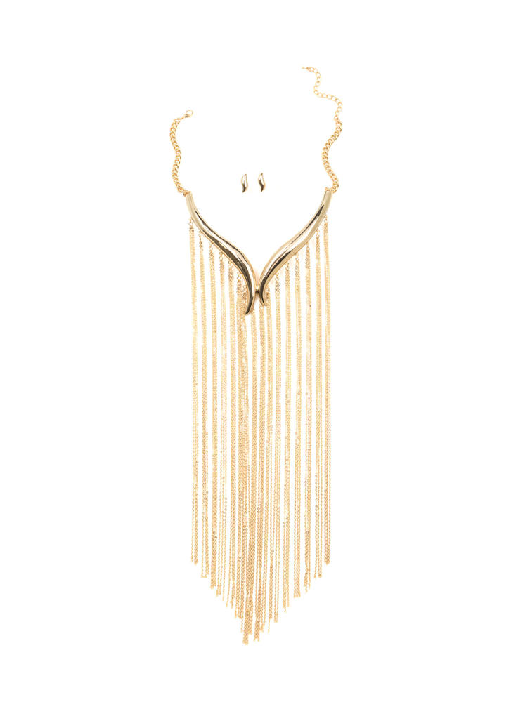 Fringe Benefits Waterfall Necklace Set