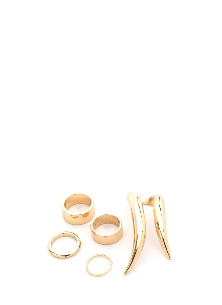 Wild 'N Free Double Talon Ring Set