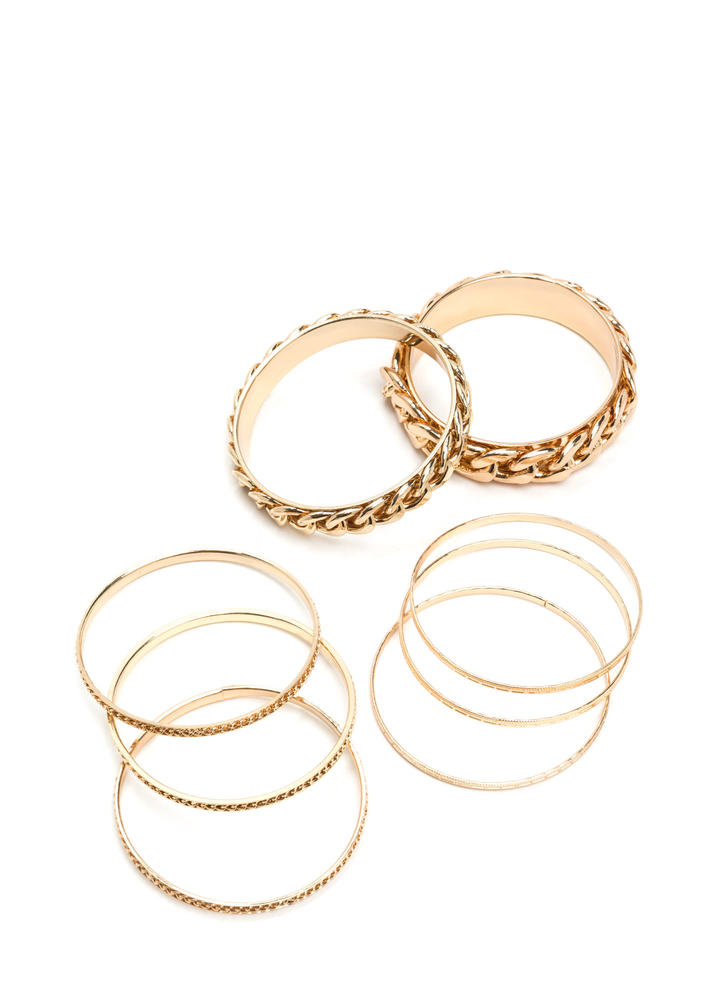 8 Days A Week Chain Bangle Set