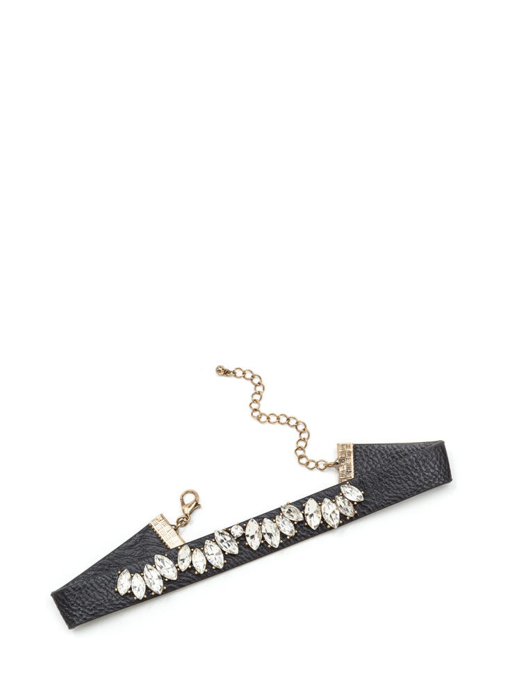 Jewel Collector Faux Leather Choker