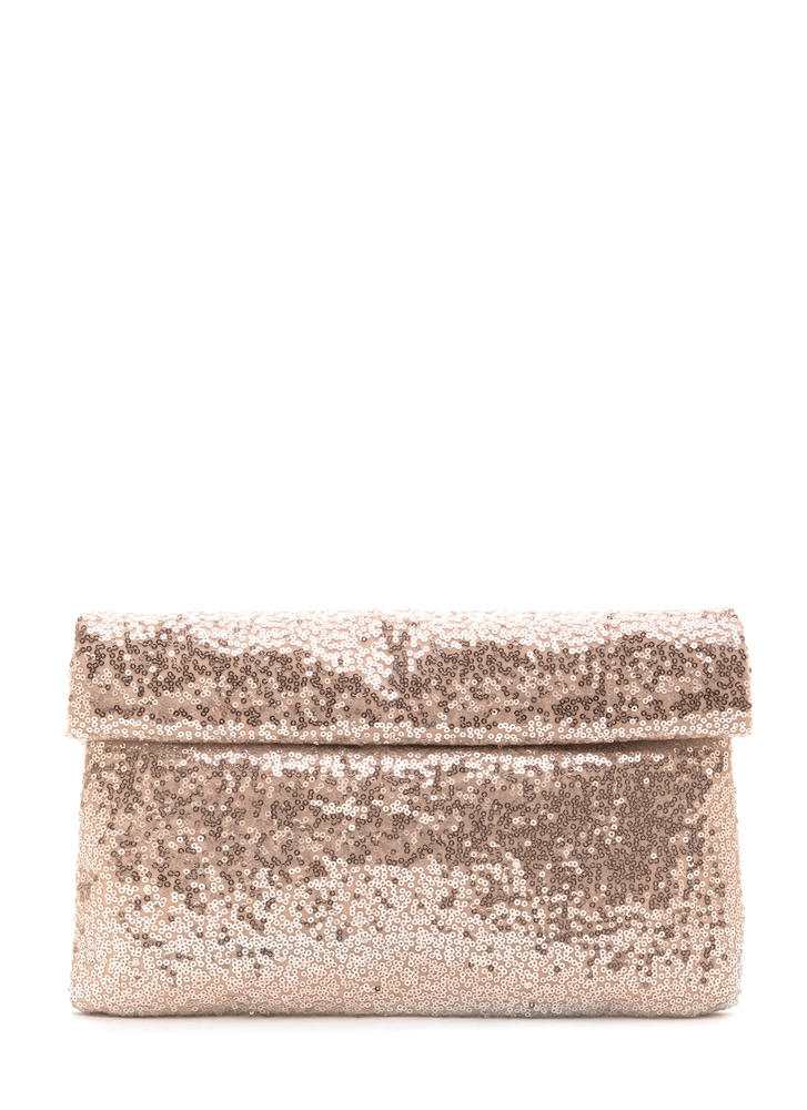 Glitzy Sequins Of Dates Clutch
