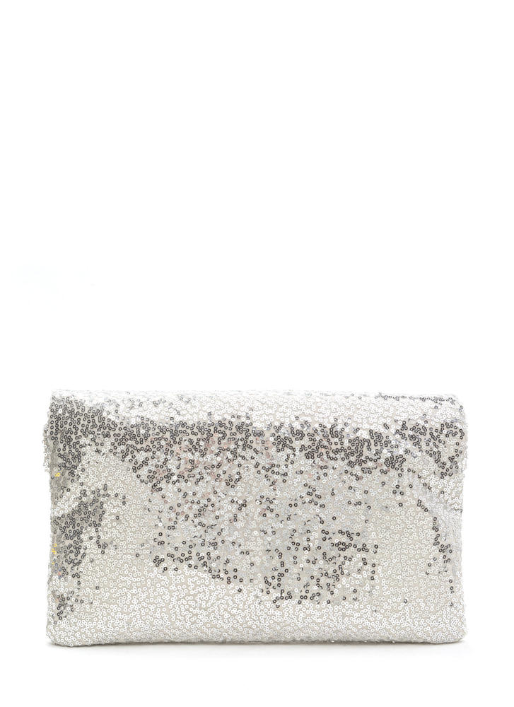 Glitzy Sequins Of Dates Clutch SILVER