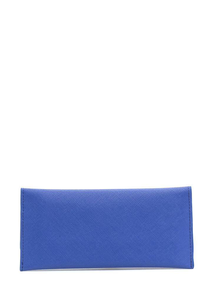Continental Traveler Faux Leather Wallet BLUE