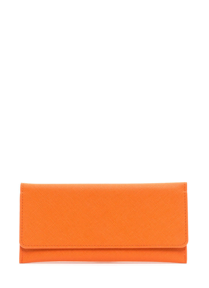 Continental Traveler Faux Leather Wallet ORANGE