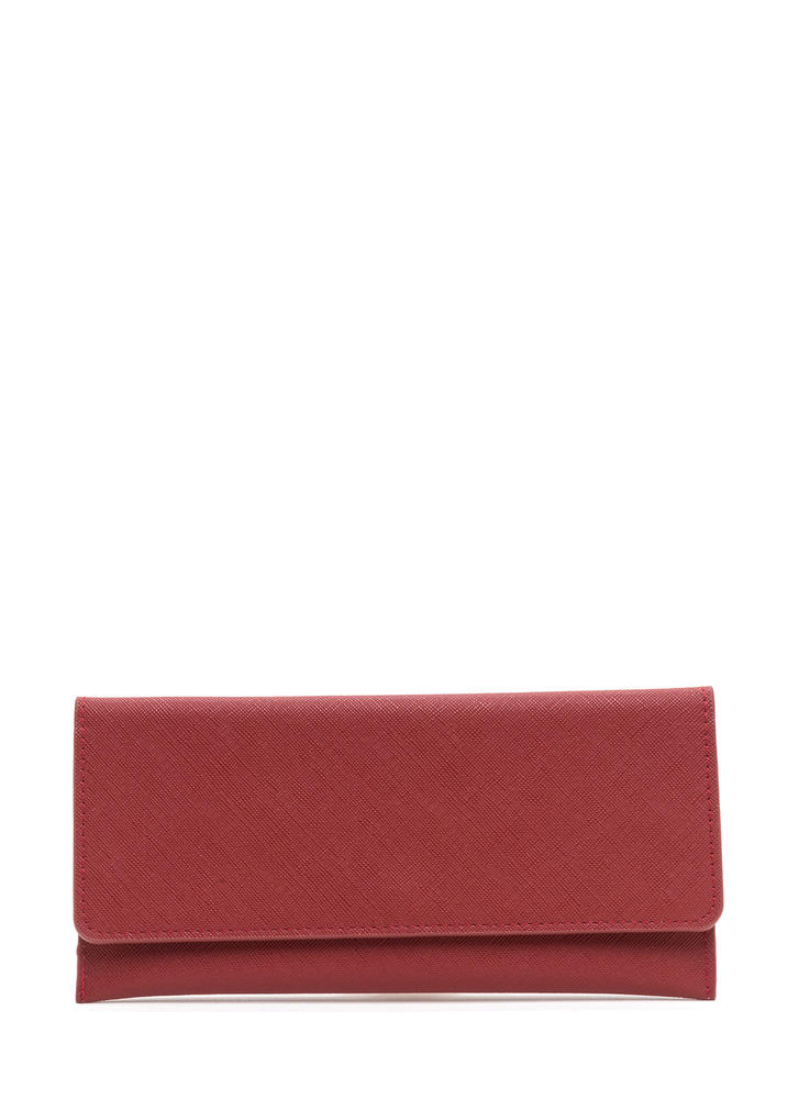 Continental Traveler Faux Leather Wallet RED