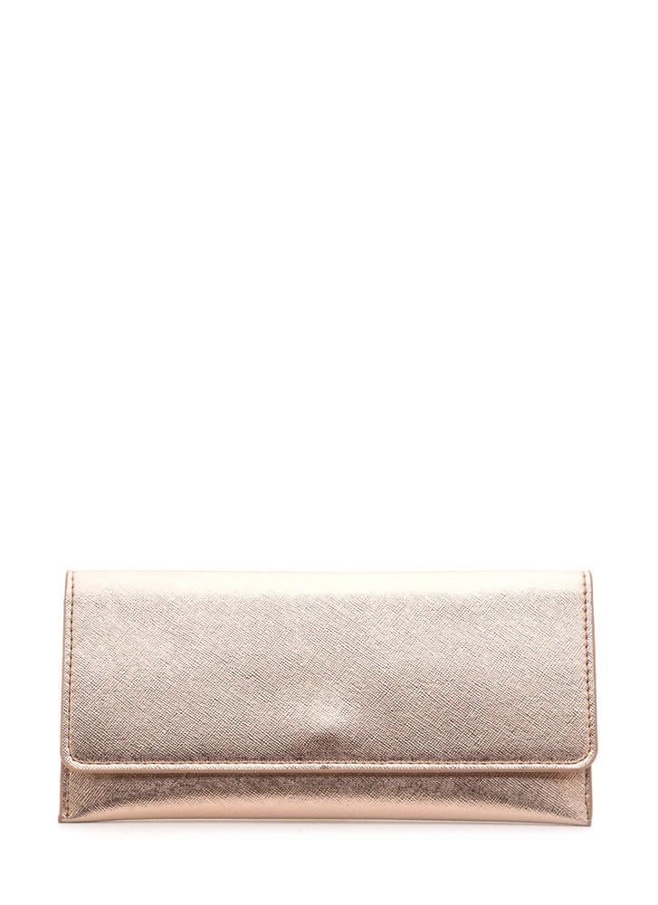 Continental Traveler Metallic Wallet ROSEGOLD