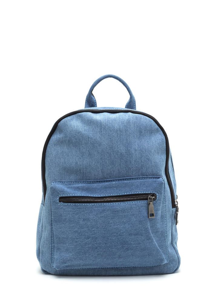 Blue Jean Baby Denim Backpack