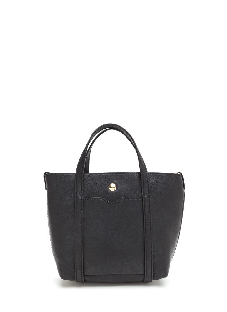 Mini Me Faux Leather Tote Bag