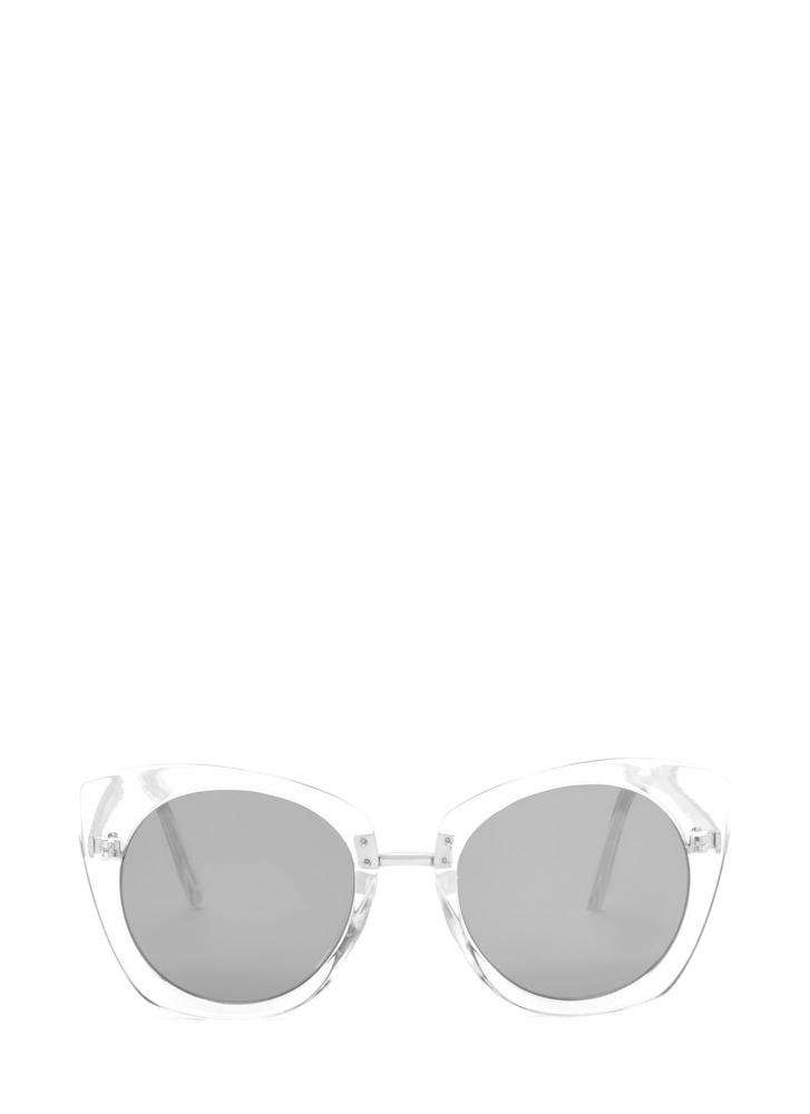 Mod Style Cat-Eye Sunglasses CLEAR