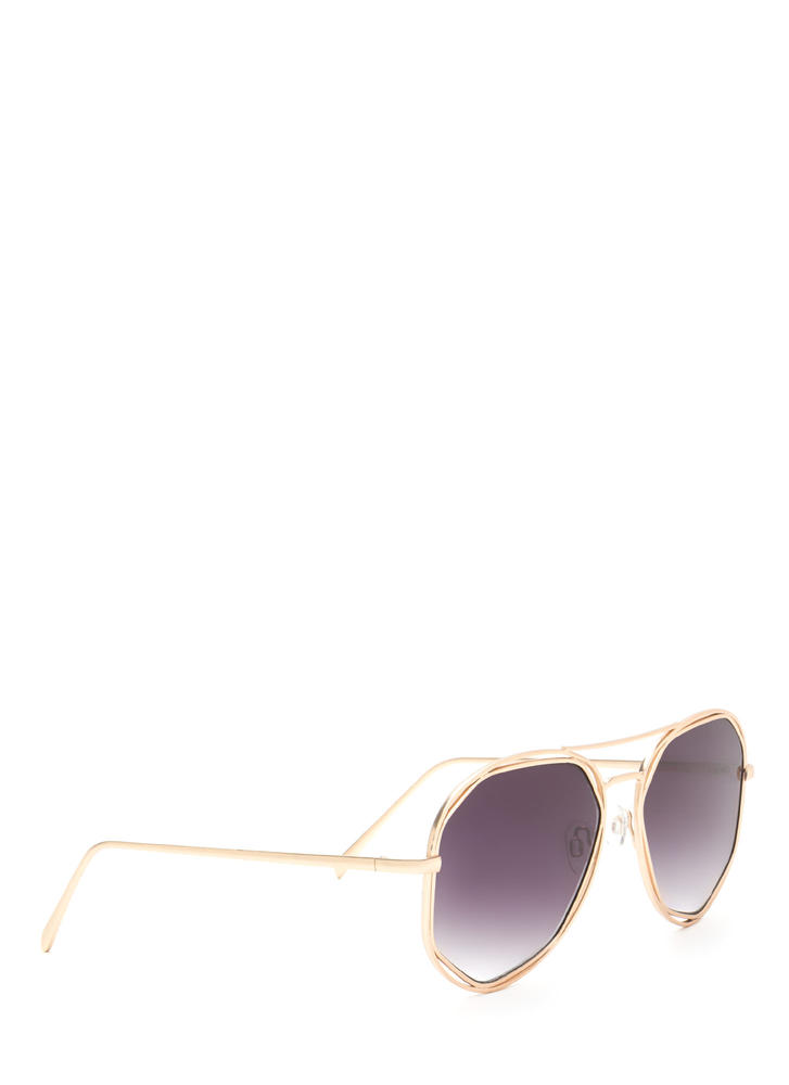 Lucky Seven Aviator Sunglasses BLACKGOLD