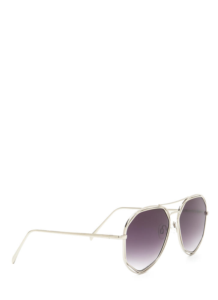 Lucky Seven Aviator Sunglasses BLACKSILVER