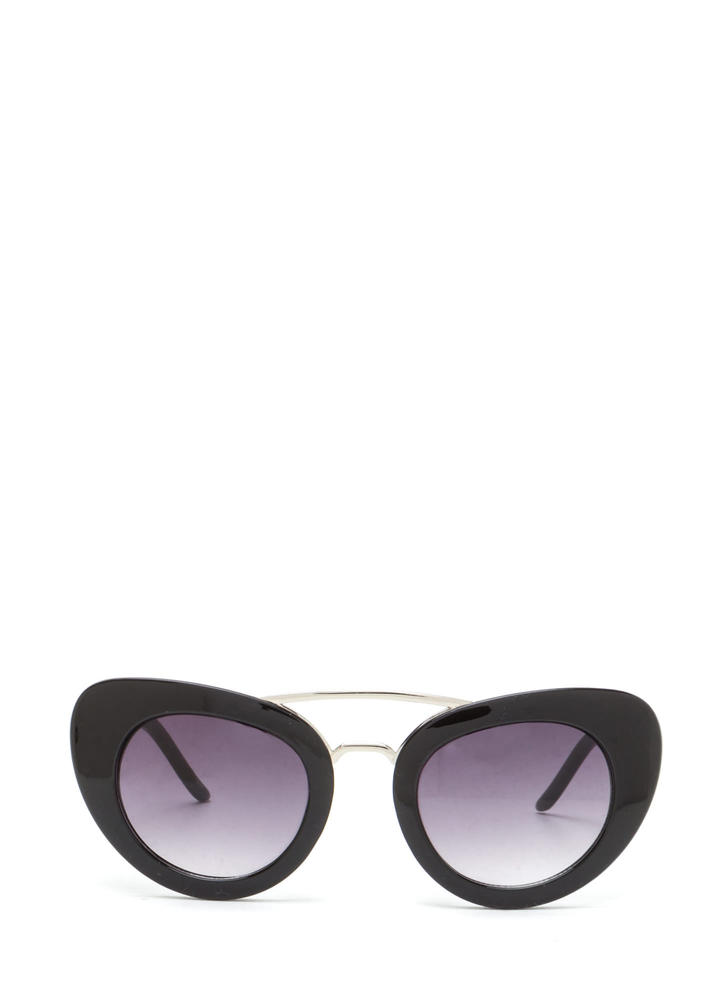 Mod Girl Cat-Eye Sunglasses